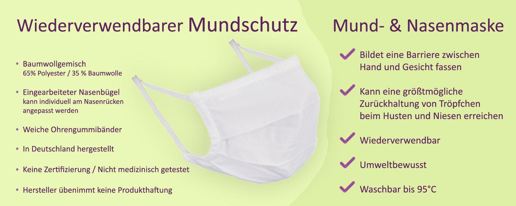 Mundschutz Mund- & Nasenmaske