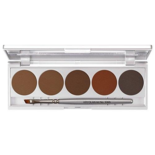 Kryolan Eyebrow Powder Augenbrauen Puder 5 Farben Palette