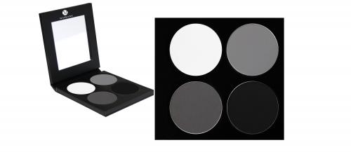 Matte Lidschatten Palette - 4 Farben - P1-Palette