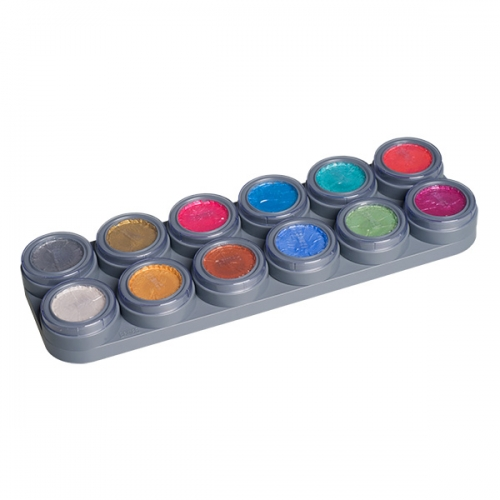 Aqua Make-up Pearl 12 Farben Palette