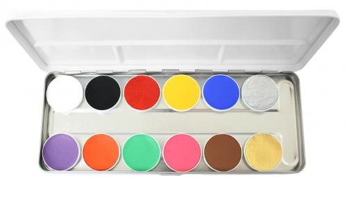 Aqua Paints Schminke Grundpalette Bodypainting Farbe