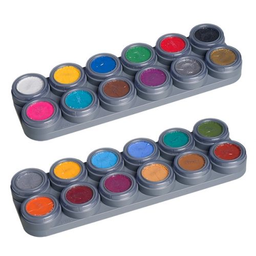 Aqua Schminke Palette 24 Farben Bodypainting Farbe