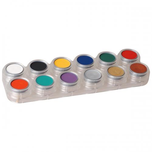 Creme Schminke - 12 Farben Palette F