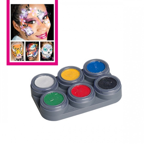 Kinderschminke Set 6 Farben Schminkanleitungen