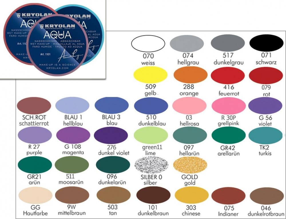 KRYOLAN Aquacolor 8ml Bodypainting Farbe