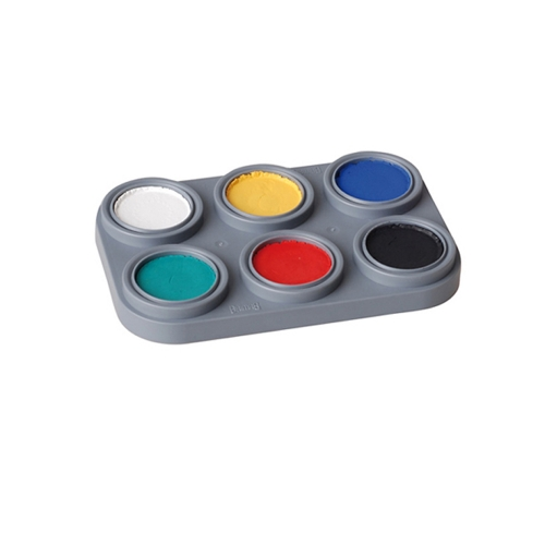 Grimas Water Make-up 6 Farben Palette Kinderschminke