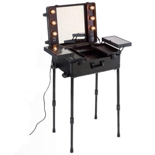 Schminkspiegel Beleuchtung Visagistenkoffer Make up Artist Koffer Trolley