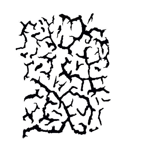 Schminkschablone Cracked