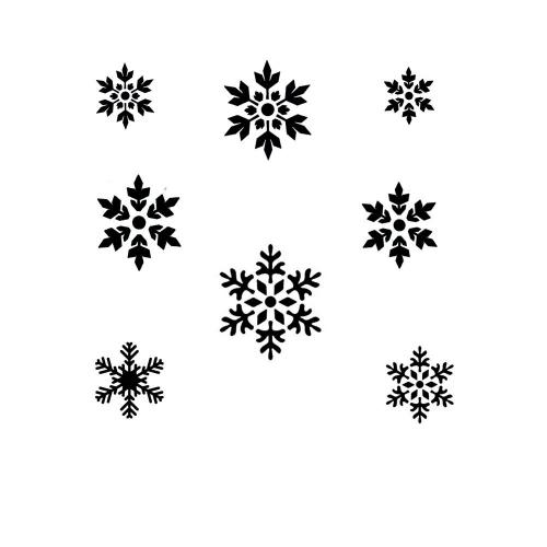Schminkschablone Schneeflocke