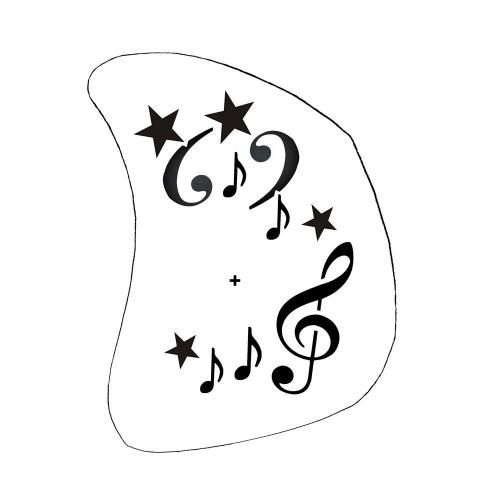 Kinder Schminkschablone Musik Noten