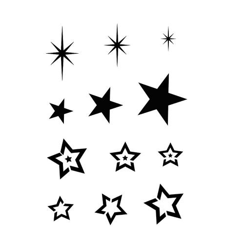 Kinder Schminkschablone Sterne 2