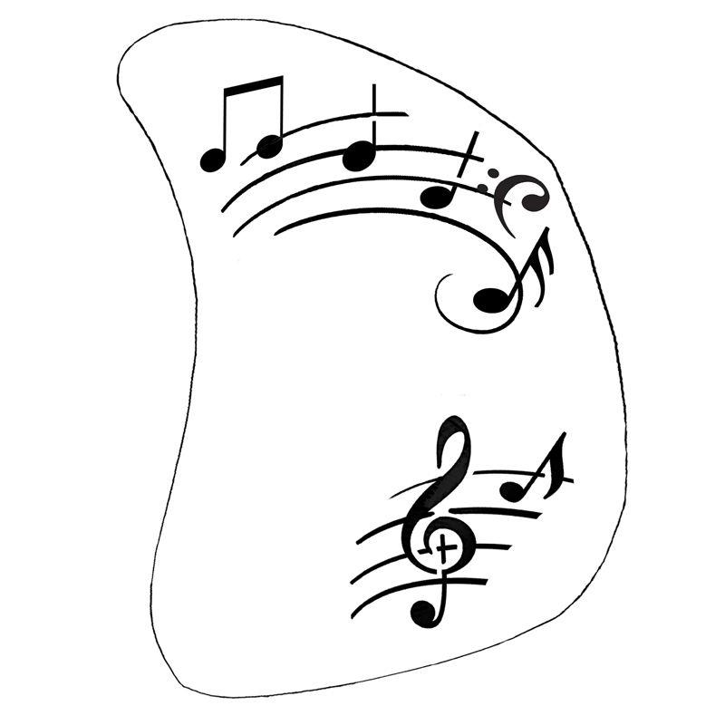 Schminkschablone Musik Noten 2