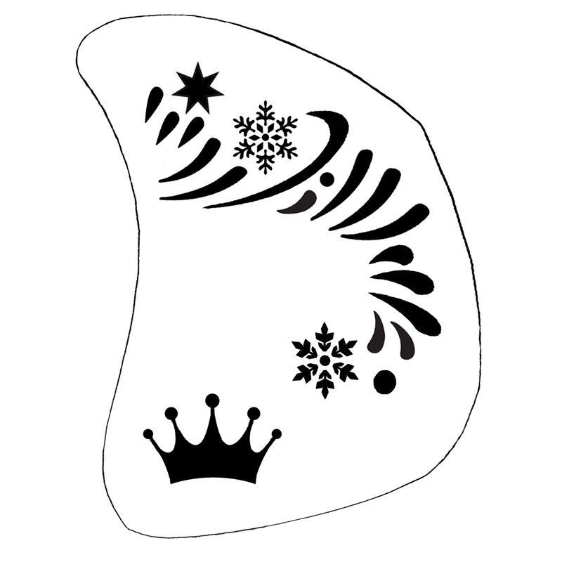 Schminkschablone Eiskönigin