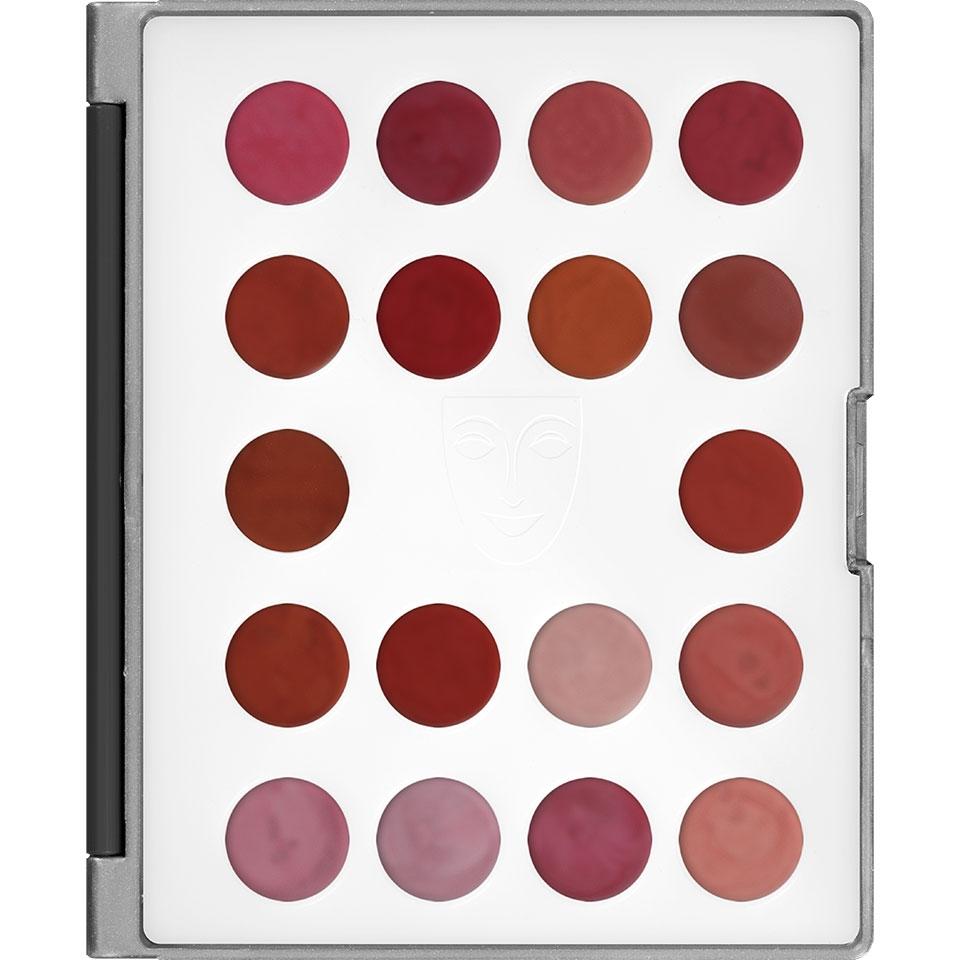 Kryolan Lip Rouge Mini Palette Lippenstift 18 Pearl Farben LCP