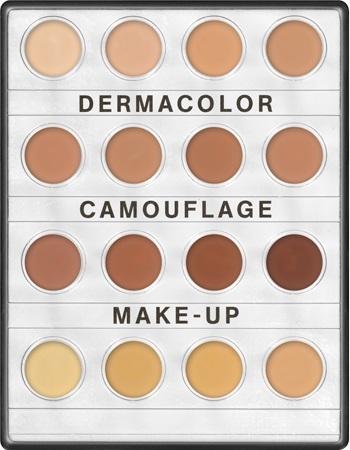 Dermacolor Camouflage Creme Mini Palette Kryolan 16 Farben D1W-D12W