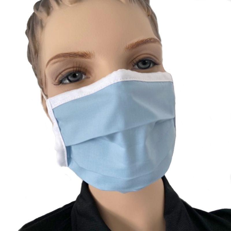 Mund Nasenmaske Mundmaske Baumwolle Farbe blau