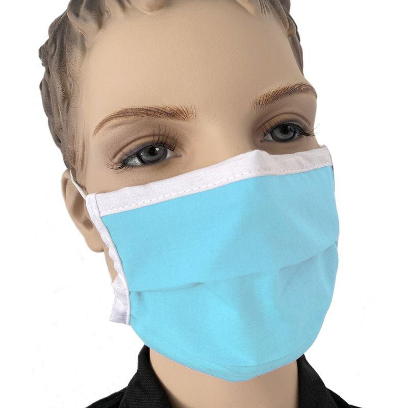 Mund Nasen Maske Mundmaske Kinder Kindermaske Farbe Blau Baumwolle waschbar