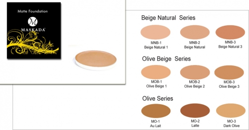 Matte Foundation - Refill 4 gr - Profi Make up