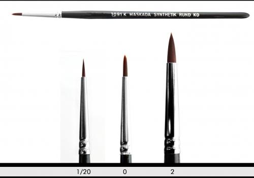 Make up Pinsel - Synthetikpinsel rund - ultrasoft
