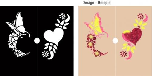 glitter tattoo schablonen set fantasy make up schminke profi theaterschminke schminken. Black Bedroom Furniture Sets. Home Design Ideas