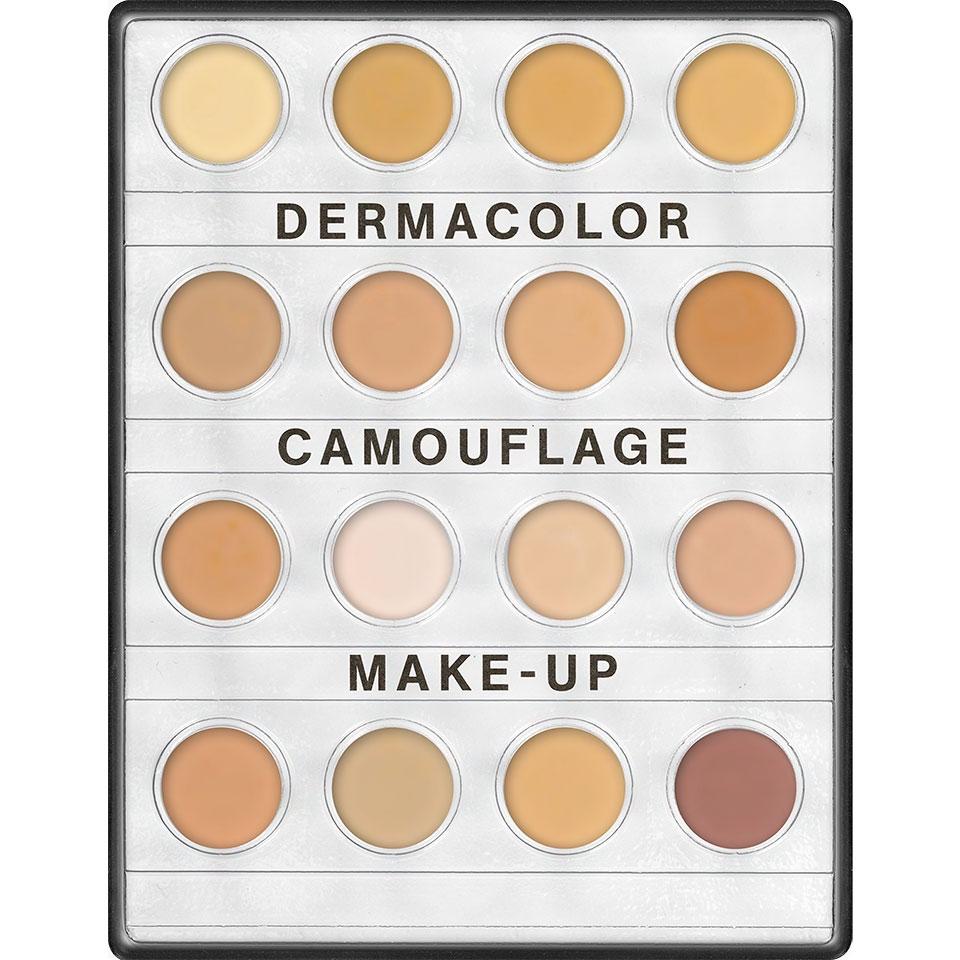 Dermacolor Camouflage Creme Mini Palette Kryolan 16 Farben fair
