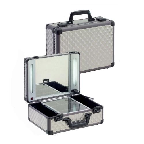 Visagisten MUA Schminkspiegel Koffer Beleuchtung