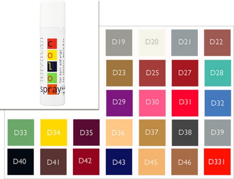 Haarcolorspray 150ml Kryolan