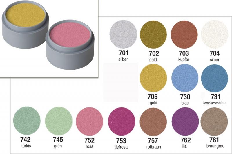 Grimas Pearl Water Make up 15ml glänzende Bodypainting Farbe