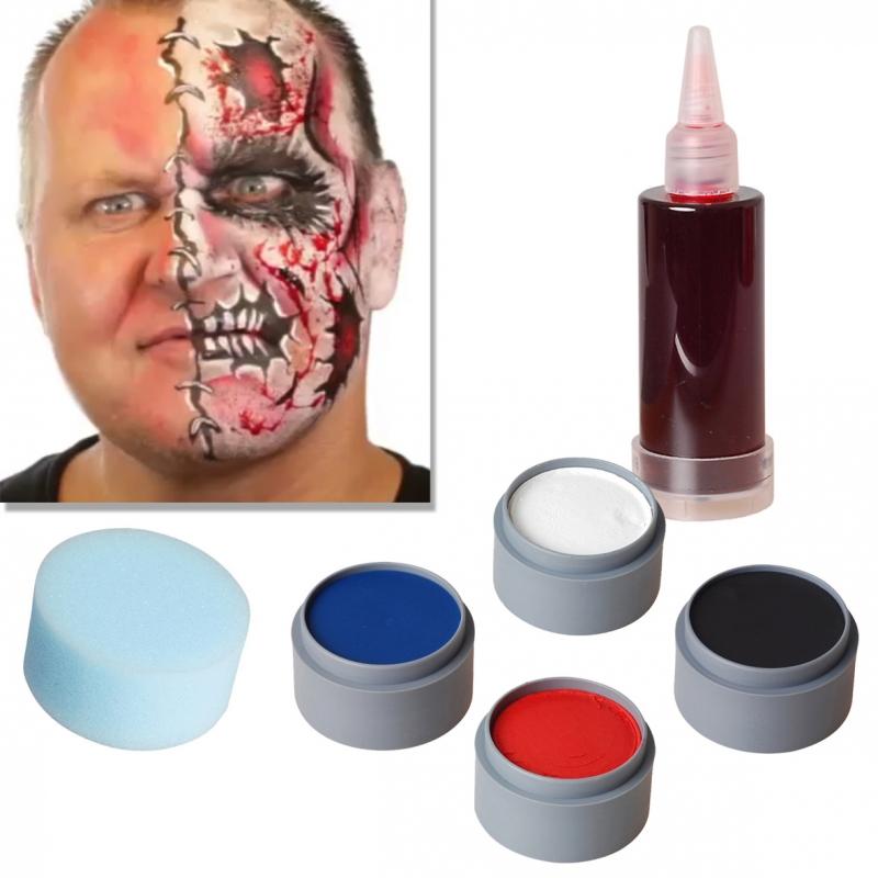 halloween schminke set cartoon zombie schminken make up. Black Bedroom Furniture Sets. Home Design Ideas