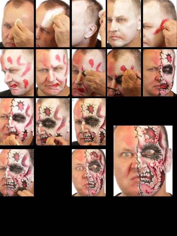 halloween schminke set cartoon zombie schminken profi. Black Bedroom Furniture Sets. Home Design Ideas
