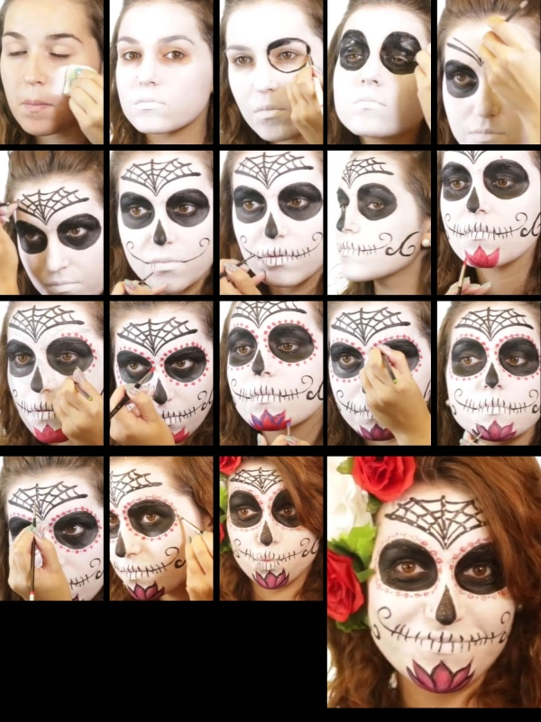 halloween schminke set sugar skull spain schminken make up schminke profi theaterschminke. Black Bedroom Furniture Sets. Home Design Ideas