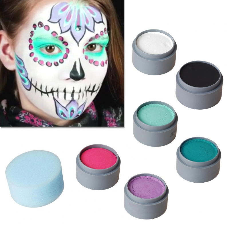 halloween schminke set sugar skull schminken make up. Black Bedroom Furniture Sets. Home Design Ideas