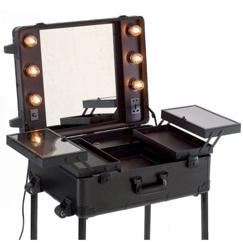 schminkspiegel beleuchtung visagistenkoffer make up artist. Black Bedroom Furniture Sets. Home Design Ideas