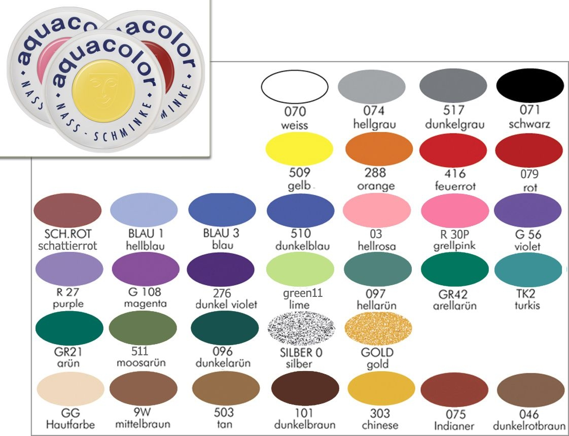 KRYOLAN Aquacolor 30ml Bodypainting Farbe