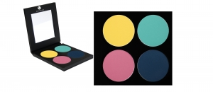 Matte Lidschatten Palette - 4 Farben - P3-Palette