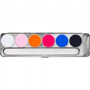 Aquacolor Tagesleucht Neon Schminke UV Schwarzlicht Palette