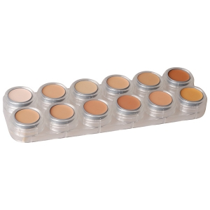 Creme Make up 12 Farben Schminkpalette V