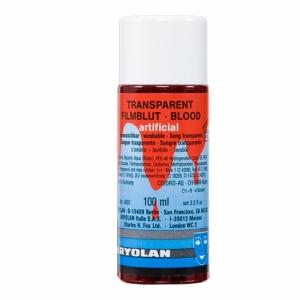 Transparent Filmblut dunkel 100 ml Kunstblut