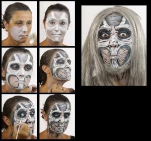 Zombie Untote Schminkset schminken