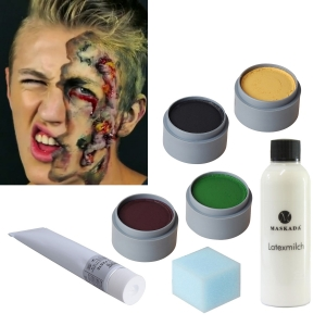Horror Make-up Zombie Schminke Set Schminkset