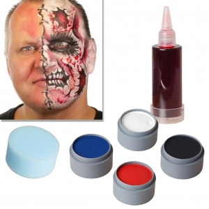 Halloween Schminke Set Cartoon Zombie schminken