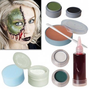 Halloween Makeup Set Bride of Frankenstein