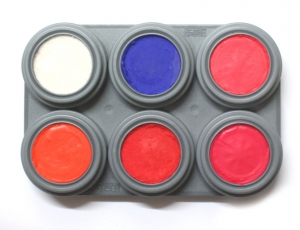 GRIMAS Water Make-up Fluorisierend Palette Bodypainting Farbe