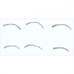 Augenbrauen 2 Schablone