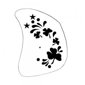 Schminkschablone Kleeblatt
