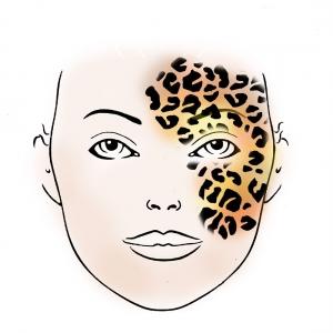 Schminkschablone Leopard