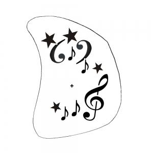 Schminkschablone Musik Noten