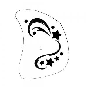 Schminkschablone Kinderschmnken Sternenhimmel