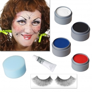 Halloween Makeup Set Cracked Doll