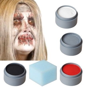 Halloween Makeup Set Zombie white
